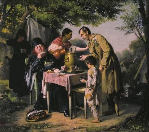 Чаепитие в Мытищах близ Москвы - картина Перова.jpeg
